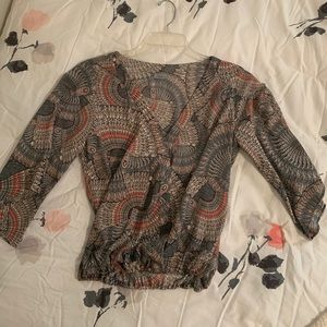 South Moon Under Multi Color long sleeve blouse